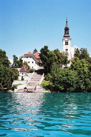 Vila Bled: Rowing out to the lake