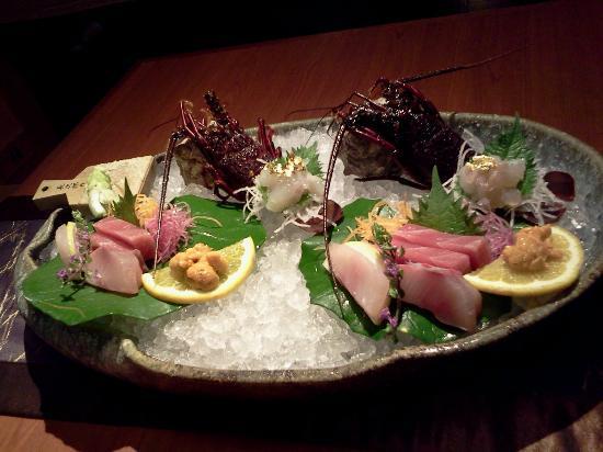 Narashinonosato Gyokusui: 夕食のお刺身、自分ですりおろすわさびが美味しい
