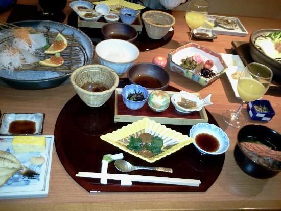 Narashinonosato Gyokusui: 朝食