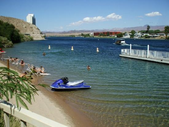 Harrah S Laughlin Hotel Resort Private Beach