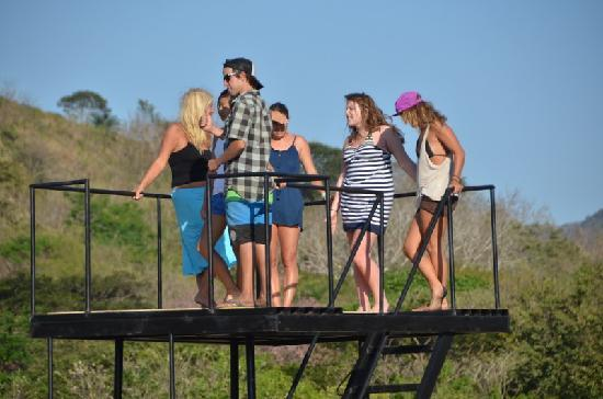 Surf Ranch AirPad Drop: Girls getting ready to jump