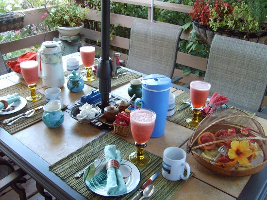 Ocean Breeze Hideaway: One of Sande and Bob's Wonderful Breakfast Spreads