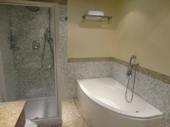 Crowne Plaza Venice East-Quarto d'Altino: バスタブとシャワーブース
