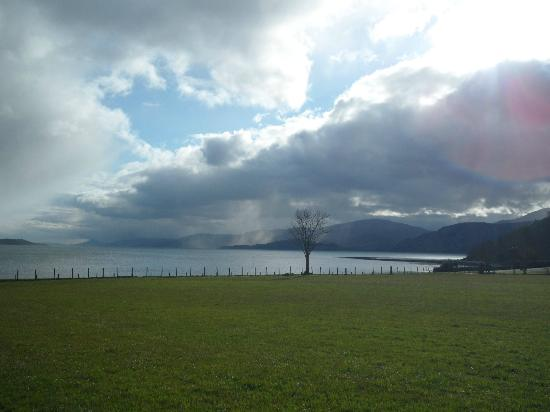View from Cuilcheanna House gardens