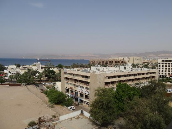 Mina Hotel: Red Sea view, Eilat (Israel) in the background