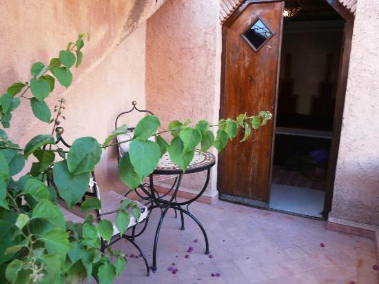 Riad Zahir : terrasse privative