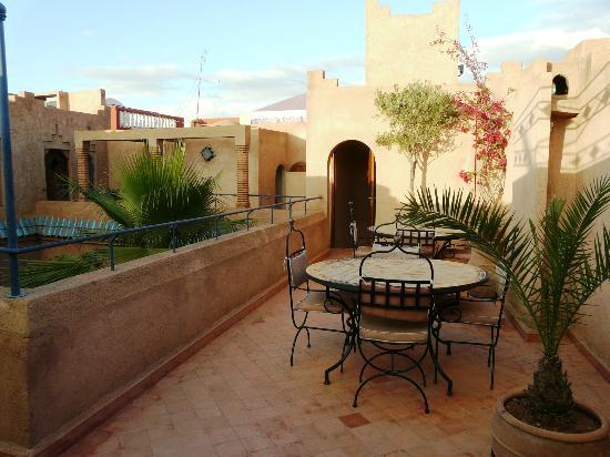 Riad Zahir: terrasses communes