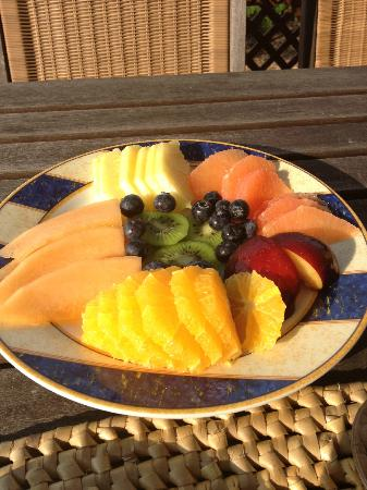 Shannas Cove Resort: Fresh, delicious fruit platters every day for breakfast
