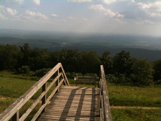 Queen Wilhelmina State Park: view from the lodge