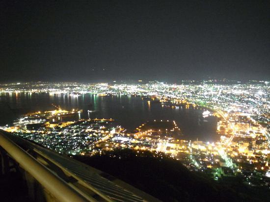 Mount Hakodate: 元町と函館港方面