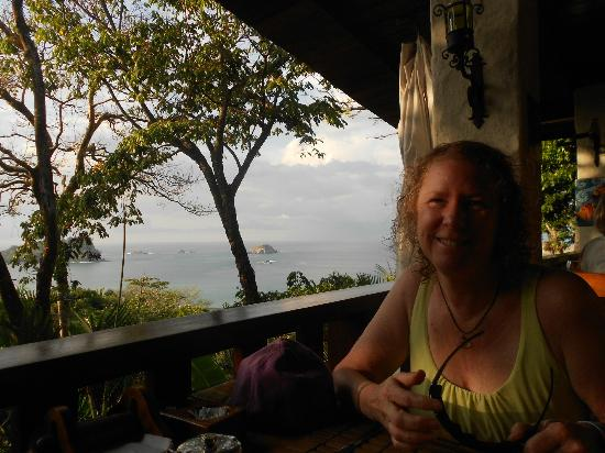 Hotel Costa Verde: breakfast at the Anaconda. I would be happy to live right in that seat for the rest of my life.