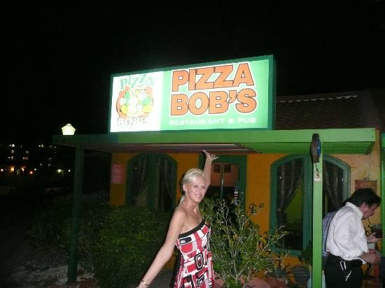 Pizza Bob's at night