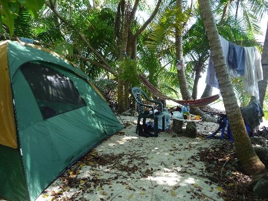 Glover's Atoll Resort: Luxury camping!