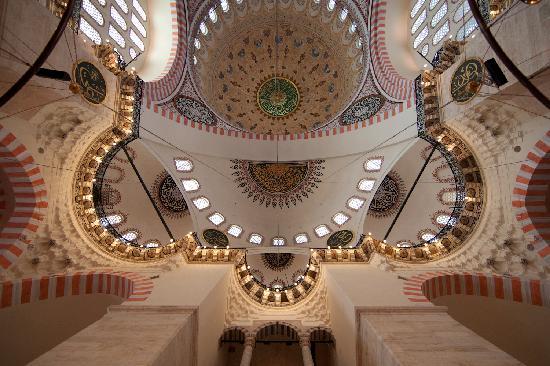 Mezquita de Suleiman o Mezquita de Süleymaniye: Ceiling detail