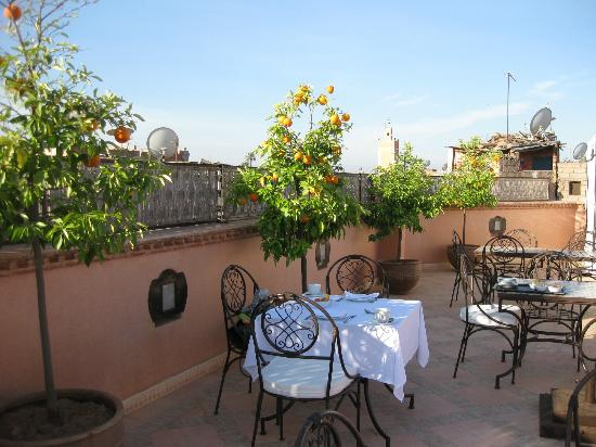 Le jardin d'Abdou: Breakfast on the roof