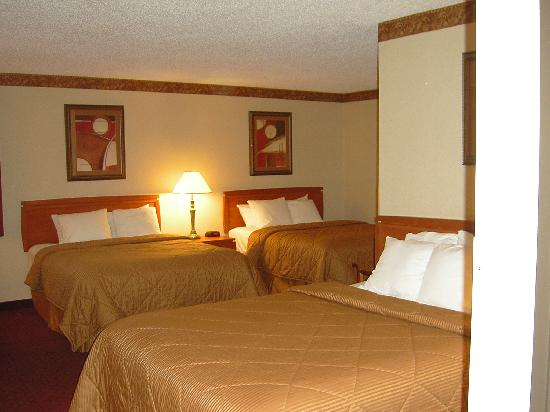Comfort Inn: Family Suite with 3 Queen Beds.
