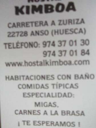 Kimboa Hotel: direccion y telefono