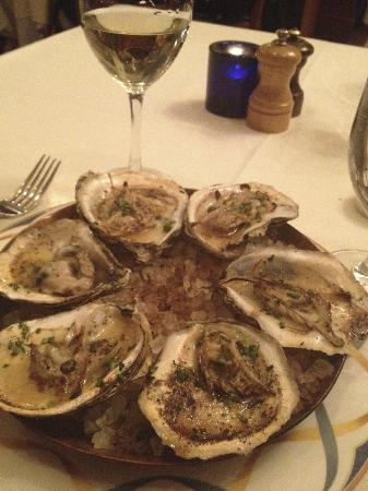 Beacon Restaurant: Wood-roasted oysters at Beacon