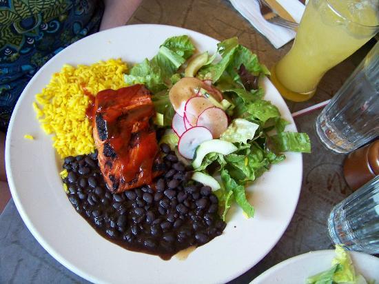 Alto Cinco: Grilled Wild Salmon Plate BBQ