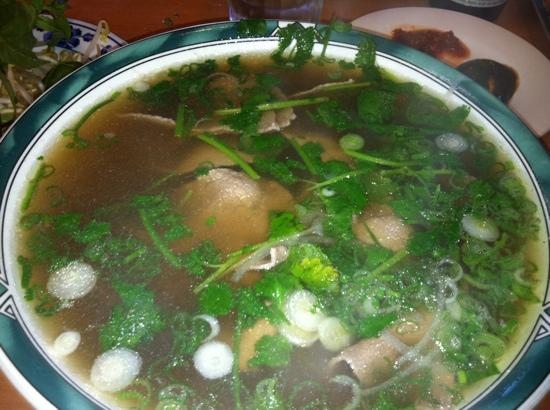 Pho T Cali: Pho with rare beef