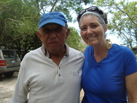 Ailanto Mountain Reserve: Hugo and I. He's full of fabulous information and a warm welcoming spirit