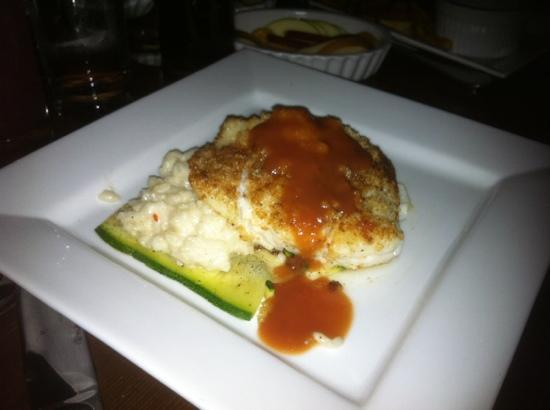 The Trappe door : Macadamia nut encrusted Halibut