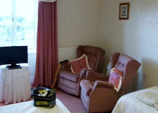 Pinn Barton Farm: large comfortable bedroom (with a chair each!!)