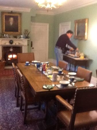 Lisle Combe: A lovely breakfast made by Robert (scrambled eggs superb)
