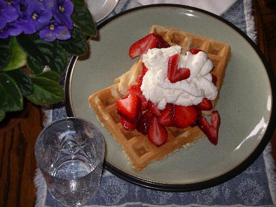 Majestic Ocean Bed and Breakfast: strawberry waffles