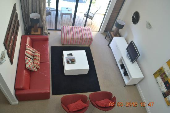 Latitude 37 Accommodation Ltd: View of Living Area from Split Level
