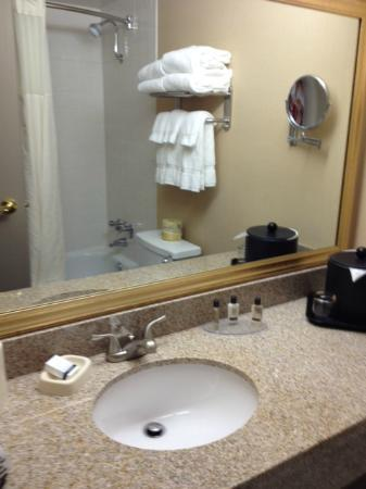 Quality Inn: Sink in bathroom