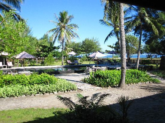 Desa Dunia Beda Beach Resort (Gili Trawangan - Lombok): Vue depuis le restaurant