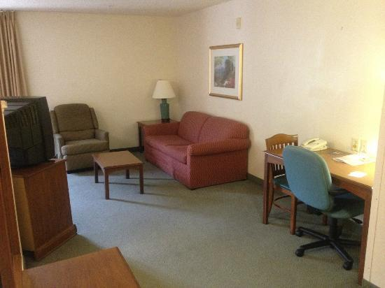 Extended Stay America - Dallas - Farmers Branch: Living area (recliner & sofa sleeeper)