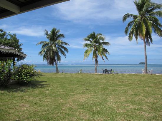 Hotel Atiapiti : Vue sur le lagon