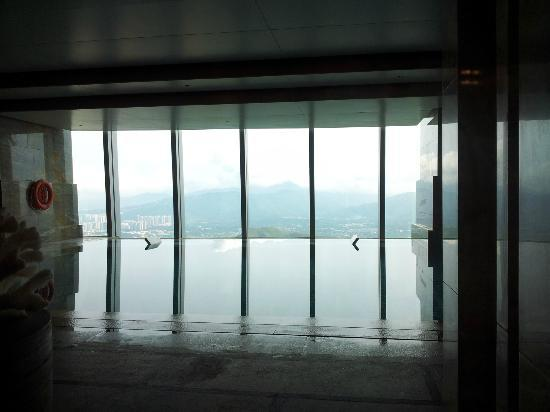 The St. Regis Shenzhen: the indoor pool, remember to bring your swimming cap, or you cannot go in