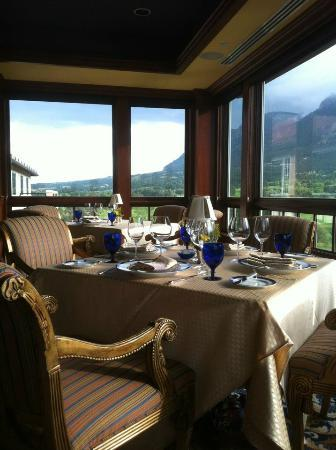 Table and the view from the Penrose Room