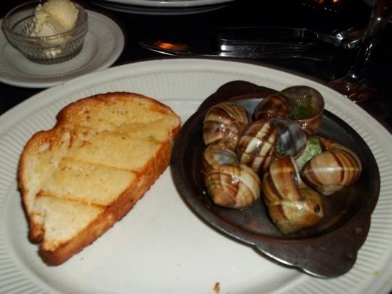 The Char: escargots in garlic sauce