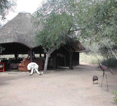 Pungwe Bush Camp: guest lounge and ding room