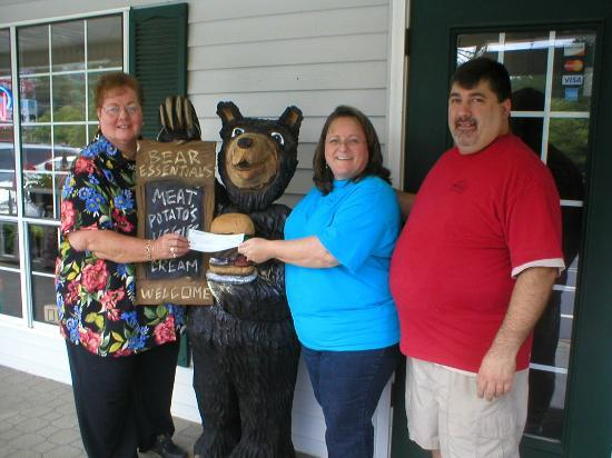 Bear Meadows Grill: Christine and Al Jones participate with a community fundraiser
