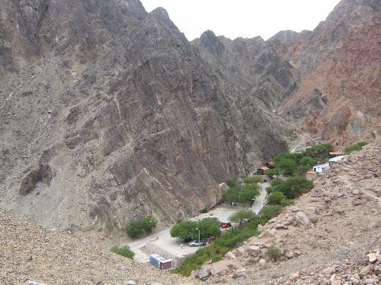 vista de las termas en Fiambala desde el Mirador