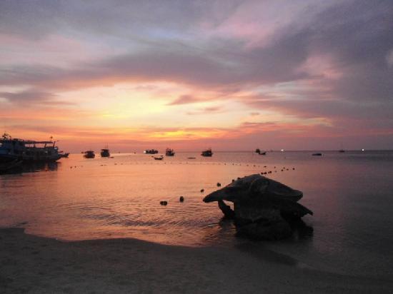 Sunset, Mae Haad Pier, Koh Tao, Surat Thani, Thailand