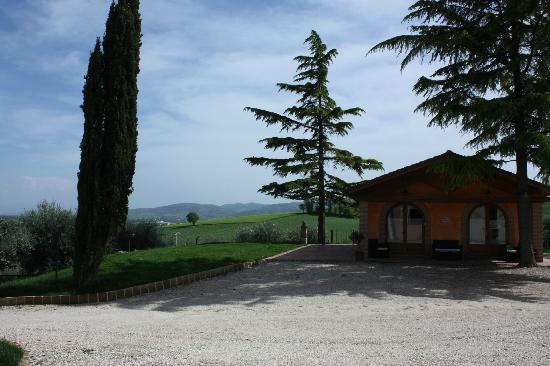 Tramonto su Assisi: Vista esterna