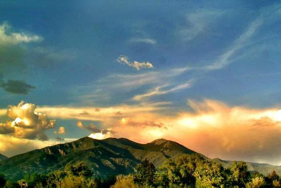 Taos Mountain Sunset May 15, 2012