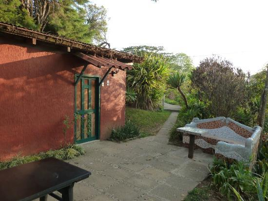 Apaneca, El Salvador: One of the cabañas with terrace in front
