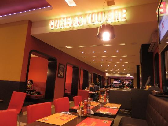 Crepaway: The restaurant's main area