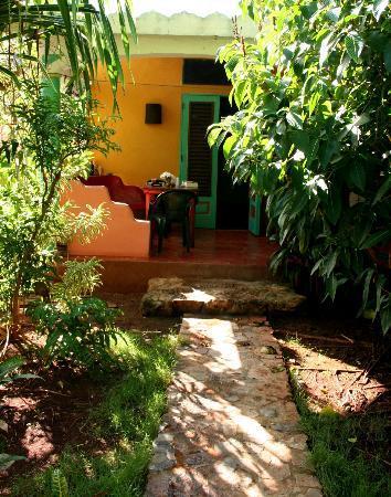 La Hacienda Hostel Ranch: The terrace of my room.