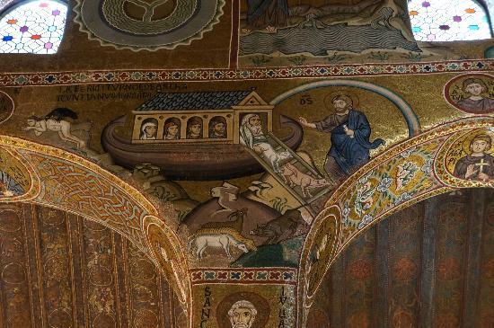Palazzo dei Normanni: Noah's arc - capella Palatina