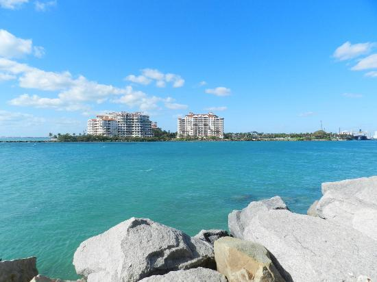 Parque South Pointe: ...fisher island...
