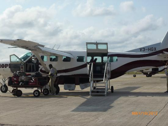 Grand Caribe Belize Resort and Condominiums: Boarding Tropic Air flight