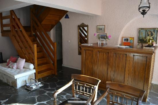 Reception area of Cavos Inn